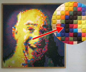 Giant-pixel-portraits-made-of-kvadrat-fabric-m