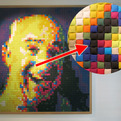 Giant-pixel-portraits-made-of-kvadrat-fabric-s