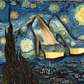 Hand-painted-pumps-as-famous-paintings-s