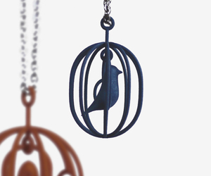 happy bird - birdcage pendants