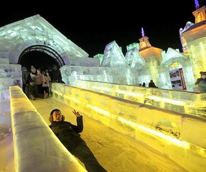 Harbin Ice Festival LED Slides