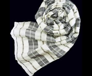 Highland-charcoal-check-scarf-m