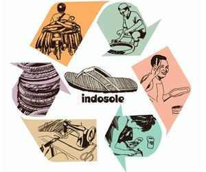 Indosole:  Recycled Tire Footwear