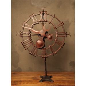 Iron-clock-on-stand-2-m