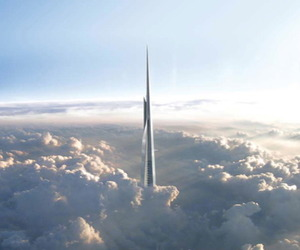 Kingdom Tower in Jeddah, Saudi Arabia