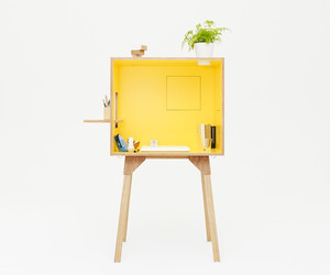 Koloro Desk and Stool by Torafu Architects