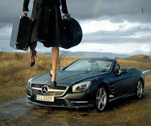 Lara Stone in Mercedes Benz SL Roadster Short Film