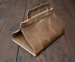 Leather Lunch Tote: DIY Project