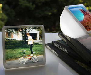 LED Picture Frame Lights Up Your Photos by Ghost Nest