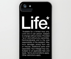 """Life* Available for a limited time only"" Black iPhone Case"
