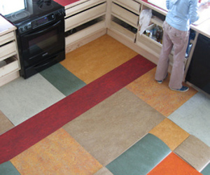 Linoleum remnant floor