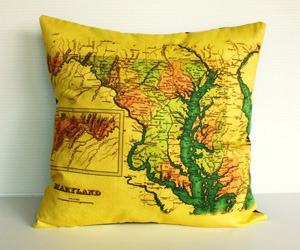 Map Cushions by My Bearded Pigeon
