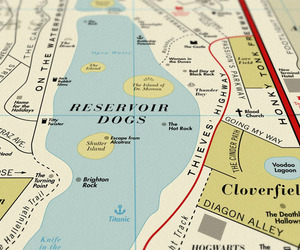 Map for Movie Lovers Repaces Venues With Film Titles.