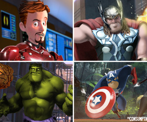 Marvel x DC Pixar Mash-Up Series | Phil Postma