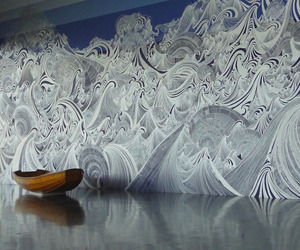 """Encounter of Waters"" Massive Mural by Sandra Cinto"