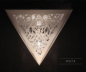 MATA paper lamp by Catherine Perez Vega