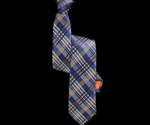 MCEWAN BLUE PLAID SKINNY TIE
