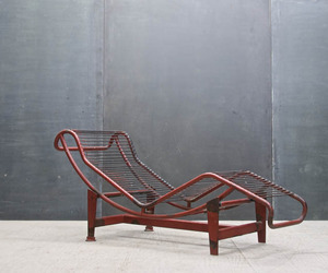 Mid-Century Le Corbusier French Industrial Chaise Lounge