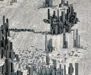 Miniature City Built Using 100,000 Staples 