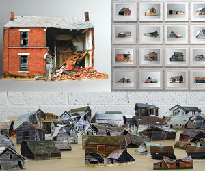 Miniature Models of Decaying Buildings Photographed