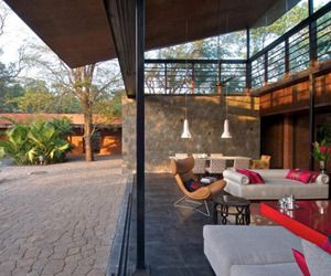 Modern Country Home Near Bombay:Brick Kiln House