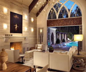 Modern-Gothic Pool House & Wine Cellar by Jamie Beckwith