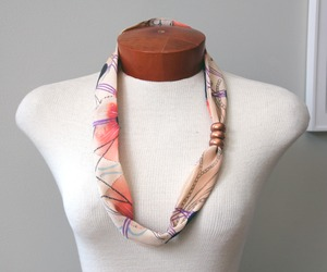 New hand-dyed fabric necklace from BEAM