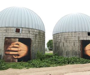 Nikita Nomerz Creating Art on Abandoned Structures 