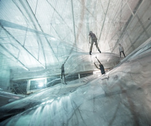 """On Space Time Foam"" by Tomás Saraceno"