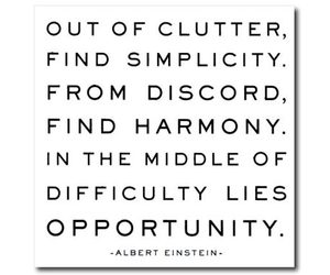 Out of clutter...