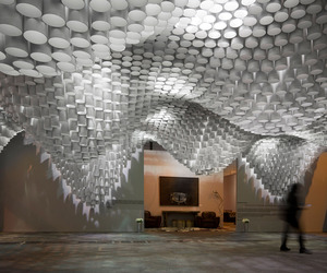 Paper Chandeliers by Cristina Parreo