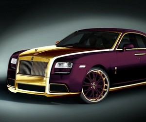 """Paris Purple"" - 24 Crat Gold Rolls Royce Ghost"