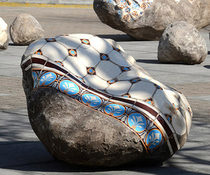 Patterned Boulders by Portuguese artist Dalila Gonalves