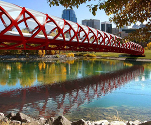 Peace Bridge, Calgary by Santiago Calatrava
