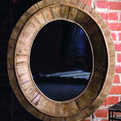 Pieced-wood-oval-mirror-s
