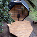 Polyhedron-shaped-garden-office-pod-s