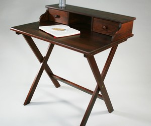 Portable Solid Wood Campaign Desk by Manchester Wood