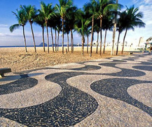 Portuguese Pavement at Copacabana Beach