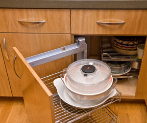 Pull out kitchen shelf by Hafele
