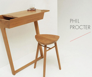 Quello Table and Stool by Phil Procter