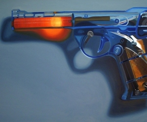 Ready, Fire, Aim - Paintings of toy guns by Shannon Cannings