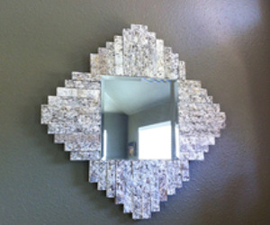"Recycled Granite Mirror ""New Mexico"""