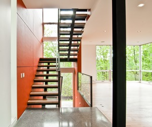 Red Stairs by BUILD LLC