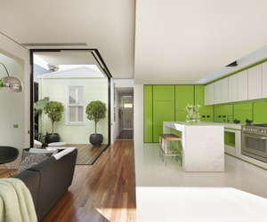 Refreshing Lime and White Melbourne Home 