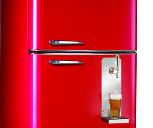 Retro Fridge with Built-In Beer Tap