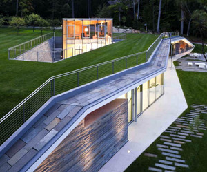 Rift in the Landscape Design of the Pool Pavilion