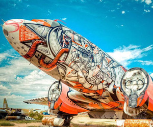 Scrapped-aircraft-as-canvas-for-art-m