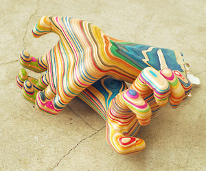 Sculptures Made From Recycled Skateboards