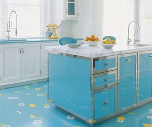 Shiny Blue Kitchen