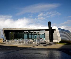 Silver Cafe in Morecambe, England by Arca Architects